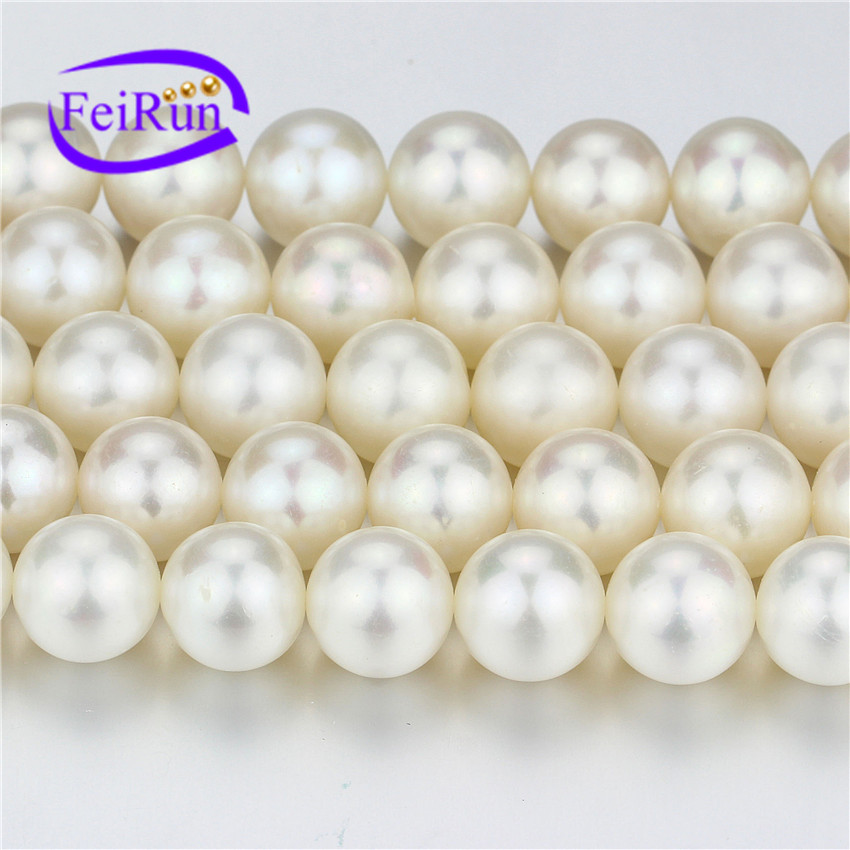 perfect round 10mm AAA- very nice quality almost no blemishes large zhuji freshwater pearl strand