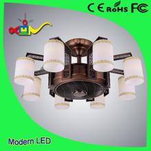 china good price 36 inch 40w remote bladeless ceiling fan with light 8 heads