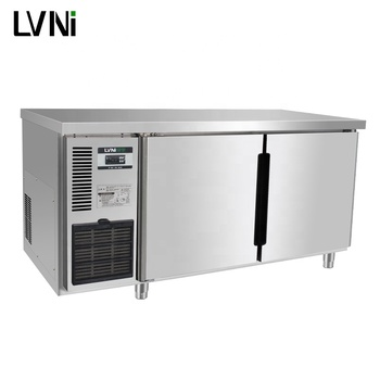 LVNI 1.5m 390L air cooling stainless steel commercial under counter freezer fridge