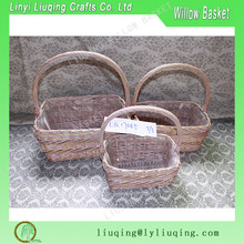 Wholesales wicker garden baskets hampers garden flower basket