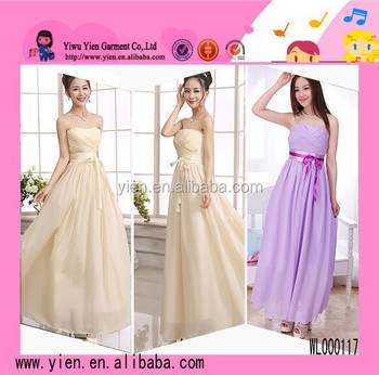 Fashion Many Kinds Color Sexy Party Dress European White Strapless Evening Dress