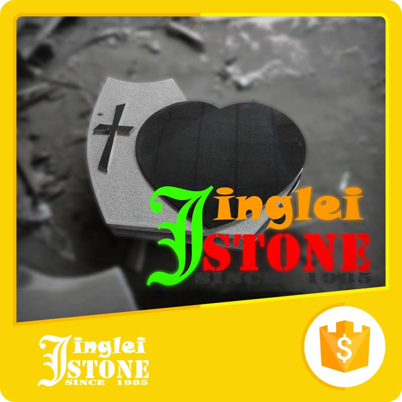 Polished Nature Granite Angel Heart Carved Monuments Tombstone