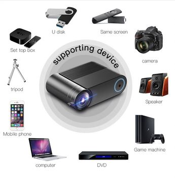 Mini Portable Home Theater LCD Smart Movie Cinema Projector YG550