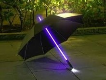 PN hot sale novelty electronic light Personalized straight umbrella special led umbrella