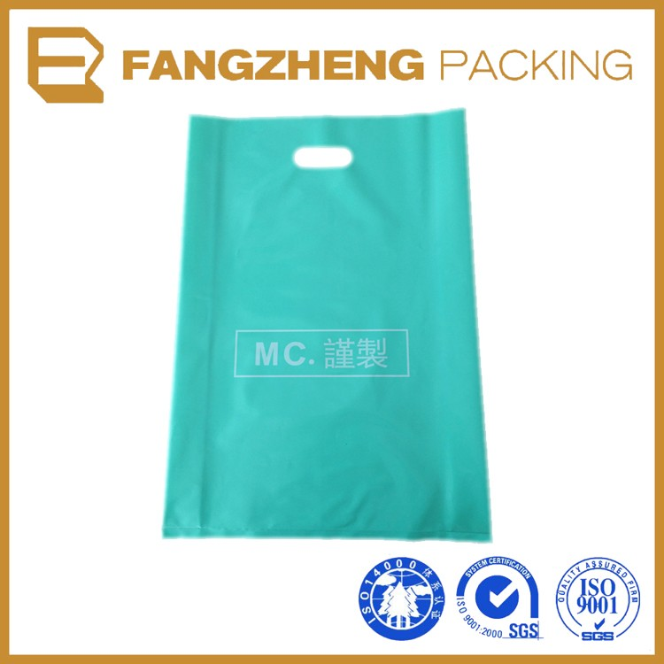 High Quality Die Cut Plastic Shopping color Bags With Logo