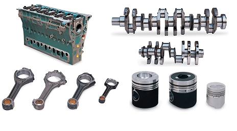 DOOSAN ENGINE PARTS (CYLINDER BLOCK, CRANK SHAFT,PISTON...)