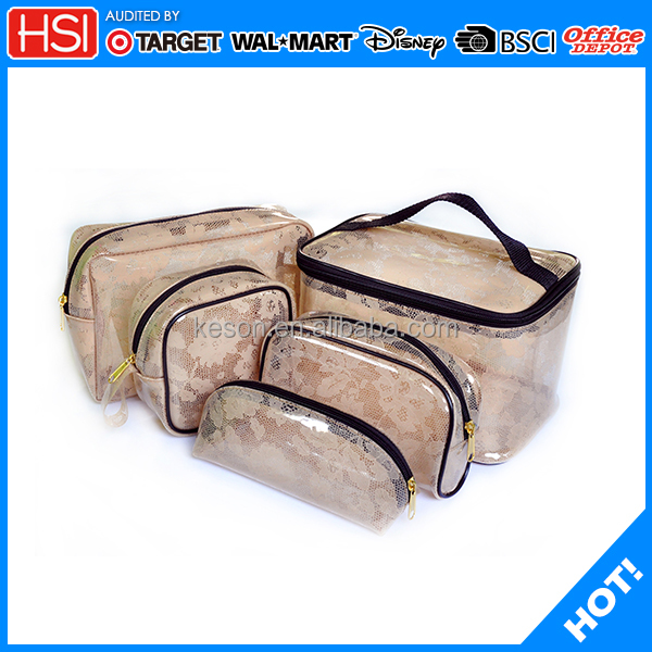 2017 new products 6P phthalate free clear PVC Cosmetic Bag