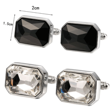 Wholesale metal silver rhinestone cufflinks for men