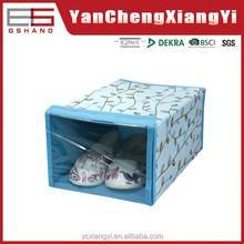 fabric present Covered shoe box design