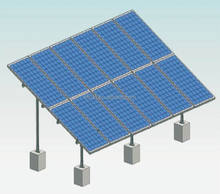 Easy installation Galvanized stainless steel aluminium ground style solar pv mounting structures