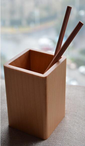 High Transparency Professional Natural Wooden Pen Holder Case