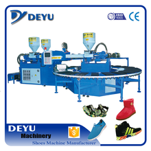 full automatic PVC air blowing shoes injection moulding machine for one head three colors
