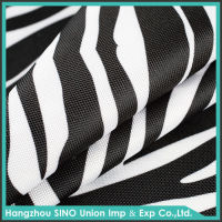 100% Polyester 1680d waterproof black & white blackout ripstop curtain fabric