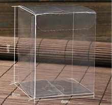 Folding clear plastic PVC packaging boxes
