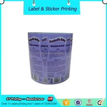 Design Shampoo Logo Labels Private Packing Label Waterproof Vinyl Label