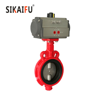 Top Pneumatic 2 inch Wafer Type Butterfly Valve made in China for USA market