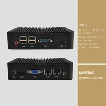 X86 Micro computer i3 3217u cpu intergrated onboard, 2G Ram 256G Storage, Blue ray, WIFI Optional, Win8 2 LAN PC serial port