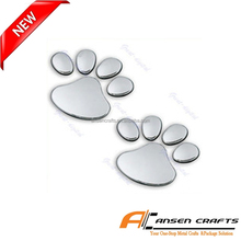 Cheap Chrome Bear Paw Pet Animal Footprints Car Emblem