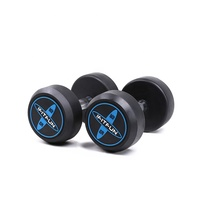 High Quality Cross Fitness Weightlifting Rubber Dumbbell Set Kg