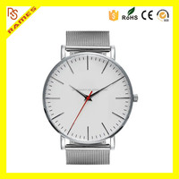 2016 New Stainless Steel Mesh or Leather Band Men Watches Luxury