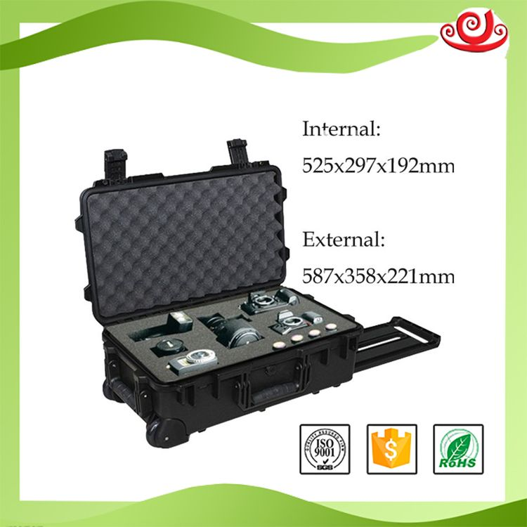 Tricases china gold supplier bottom price IP67 plastic case hard gun carrying portable case M2500