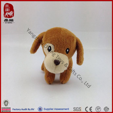 Promotion sedex BSCI factory stuffed farm animal cheap brown dog plush toy