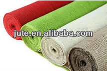 Eco-friendly dyed jute hessian fabric sold to wal-mart (USA)