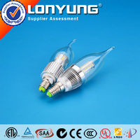 candle bulb led light with SMD3014 E14 socket with CE Rohs