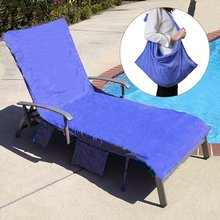 Quick Dry Lounge Chair Cover Beach Towel Easy Carrying