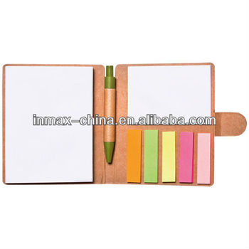 Eco friendly Recycled paper spiral notepad with pen