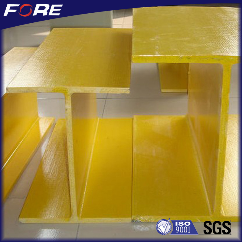 ISO9001 Cerfitication High strength Anti-Corrosion Fiberglass FRP Composite I Profiles, H Beams, kinds of profiles