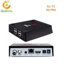 goshine Android 5.1 Amlogic S905 Quad Core Codi KII Pro Android TV Box T2 S2 Dual Tuner