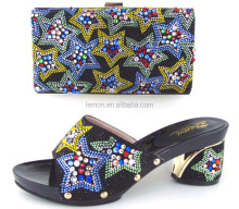 Exquisite small hand bag mix star design women shoes and bags to match