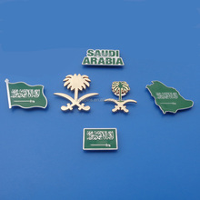 OEM design badge / brooch / emblem / lapel pin for saudi national day gifts