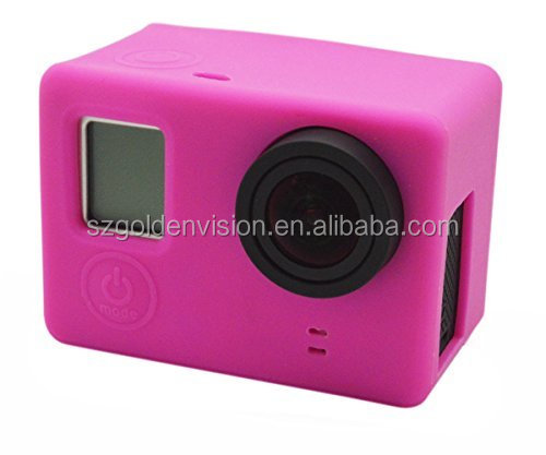 Multiple Color Silicone Case for the Camera Mainbody for GoPro Hero 4/3+/3, Cover the one with LCD or without LCD