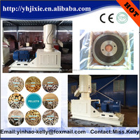 Flat die bio fuel straw Napier grass pellet mill for fuel