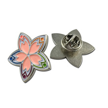 Custom Making Metal Soft Enamel Flower Lapel Pin For Sales