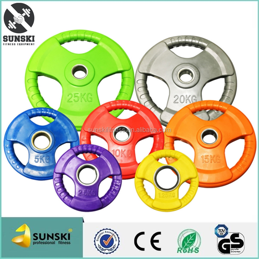 2'' Tri-Grip Color Rubber Weight lifting Plates for all kind of OB86'' bar.