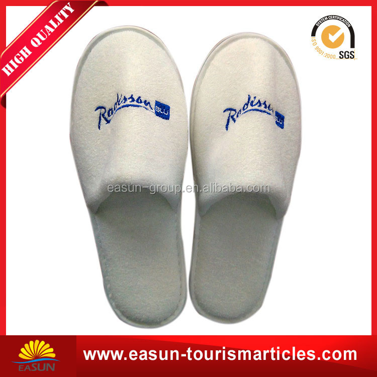 white cotton terry disposable eva hotel slipper