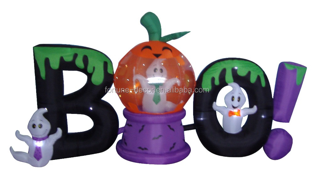 180cm/6ft inflatable BOO connected together for Halloween decoration