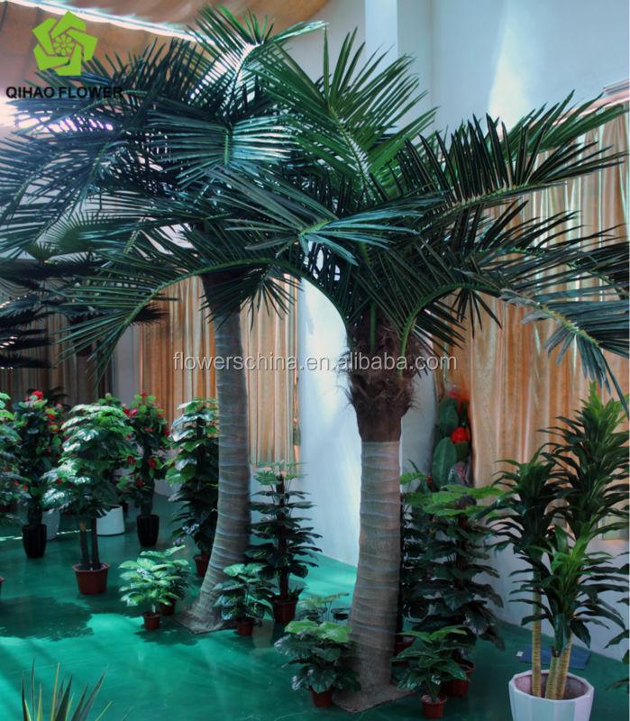 Gros d cor faux en plastique artificielle arbre de noix de coco fleurs guirlande de d coration - Arbre noix de coco ...