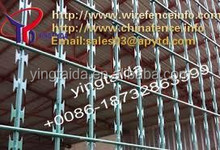 decorative wrought iron shelves/Welded Razor Wire Mesh Fence, Dark Green Coated, Community Enhance
