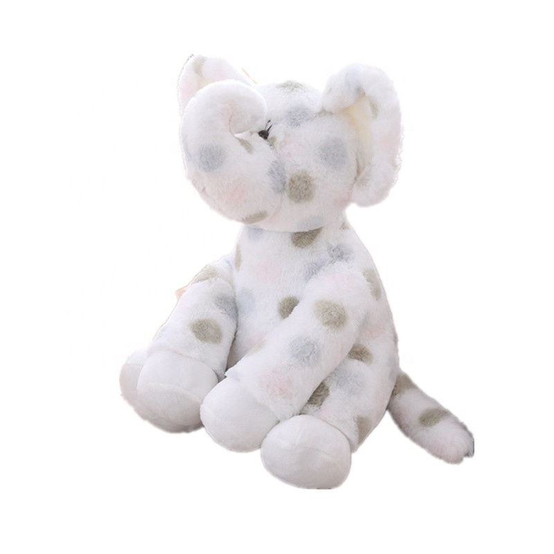 Wholesale White <strong>plush</strong> and stuffed elephant toys with big ears Wholesale custom cheap cute soft elephant <strong>plush</strong> toy
