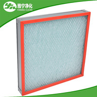 Flat plate high temp pre filters for ultra-clean oven