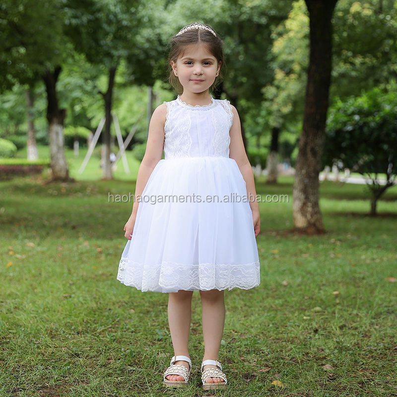 Wholesale Children Clothing USA Baby Girls Lace Tulle Party Wear Wedding Fluffy Dress Kids Frocks Designs