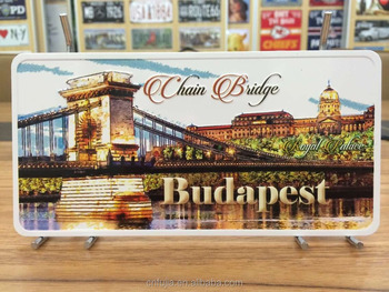 high quality souvenir printing metal postcard