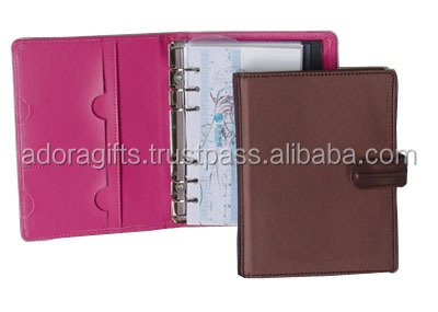 ADALP - 0094 Leather A4 Size Planner / pu leather planner/ supplier of good quality leather planner