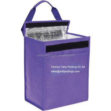 promotional 6 pack cooler bag with a velcro, eco insulated wine/beer bag, non woven fabric insulated bag