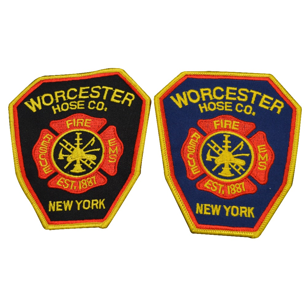 Custom embroidery badges Fire rescue patches embroidery patch
