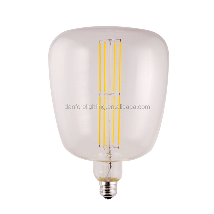 2017 new products filament style 4w 6w 8w R180 Giant led bulb
